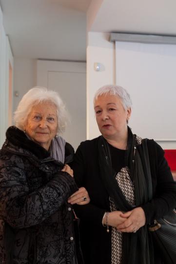 La Signora Stella Bolaffi Benuzzi con Barbara de Dominicis,
